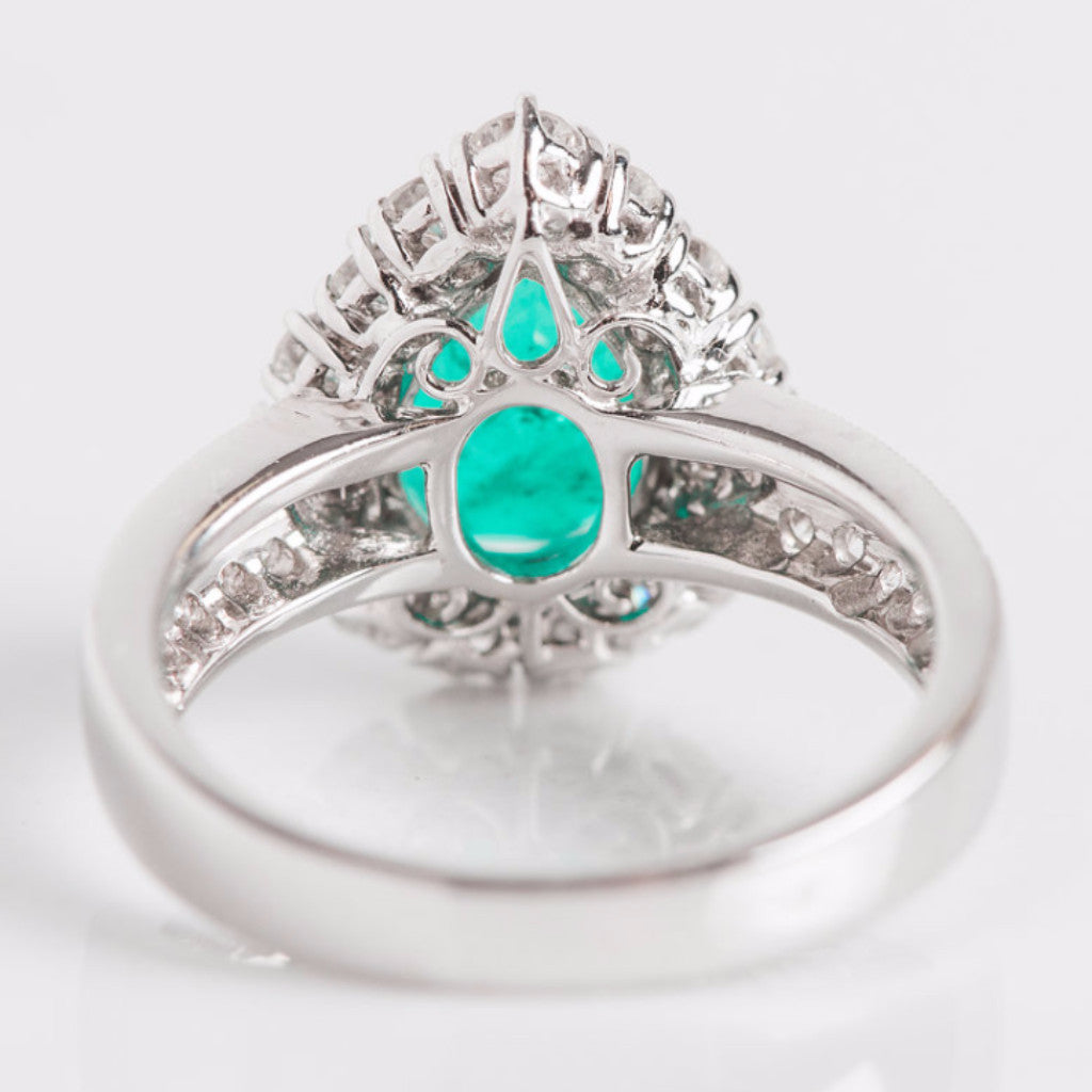 bridal wedding unique rings fashion green emerald engagement sheffield anna beautiful hbz bea r