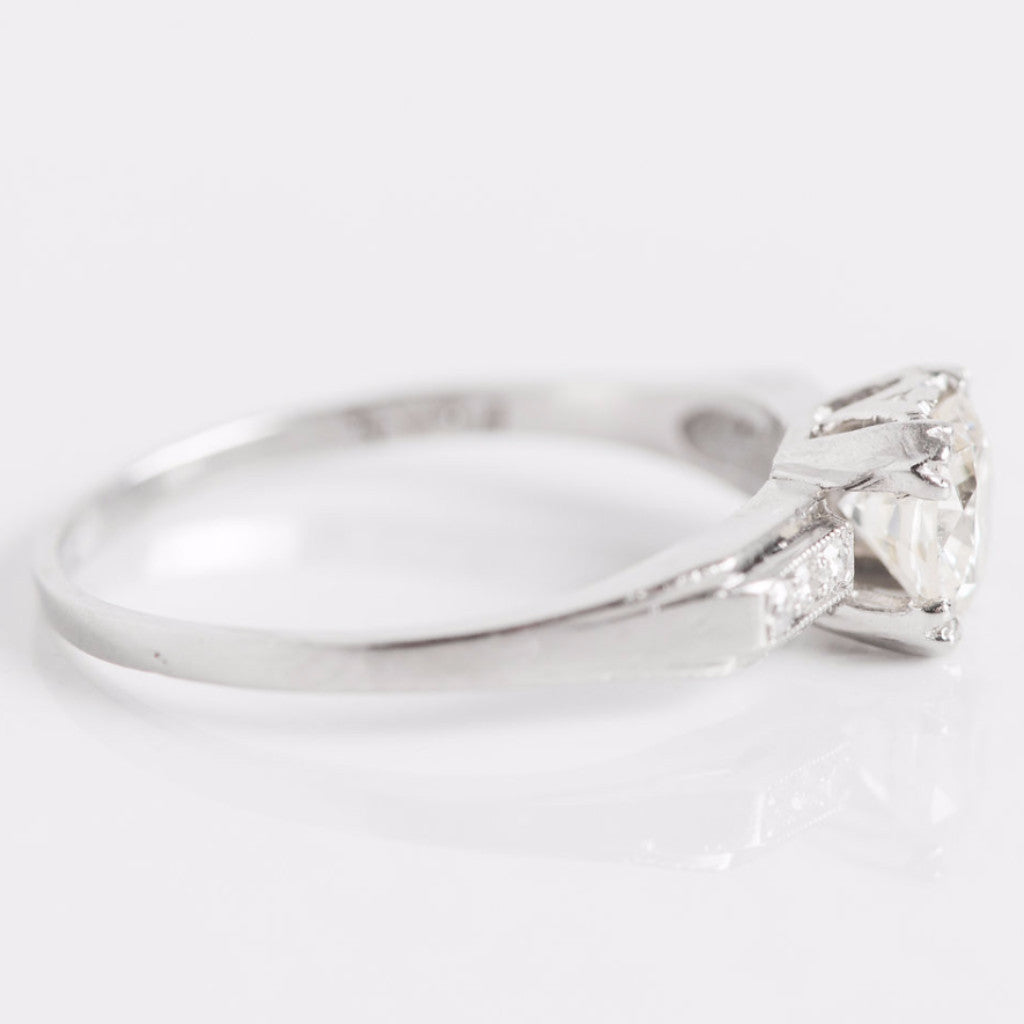 White Gold Diamond Engagement Ring Side View