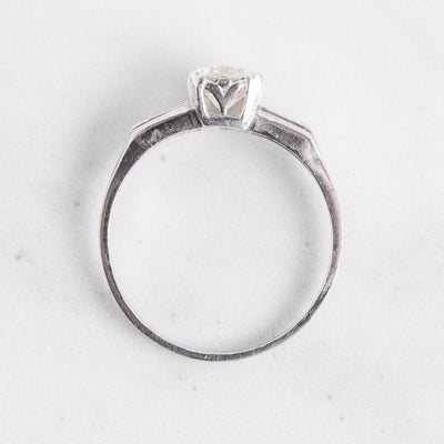 White Gold Diamond Engagement Ring Top View
