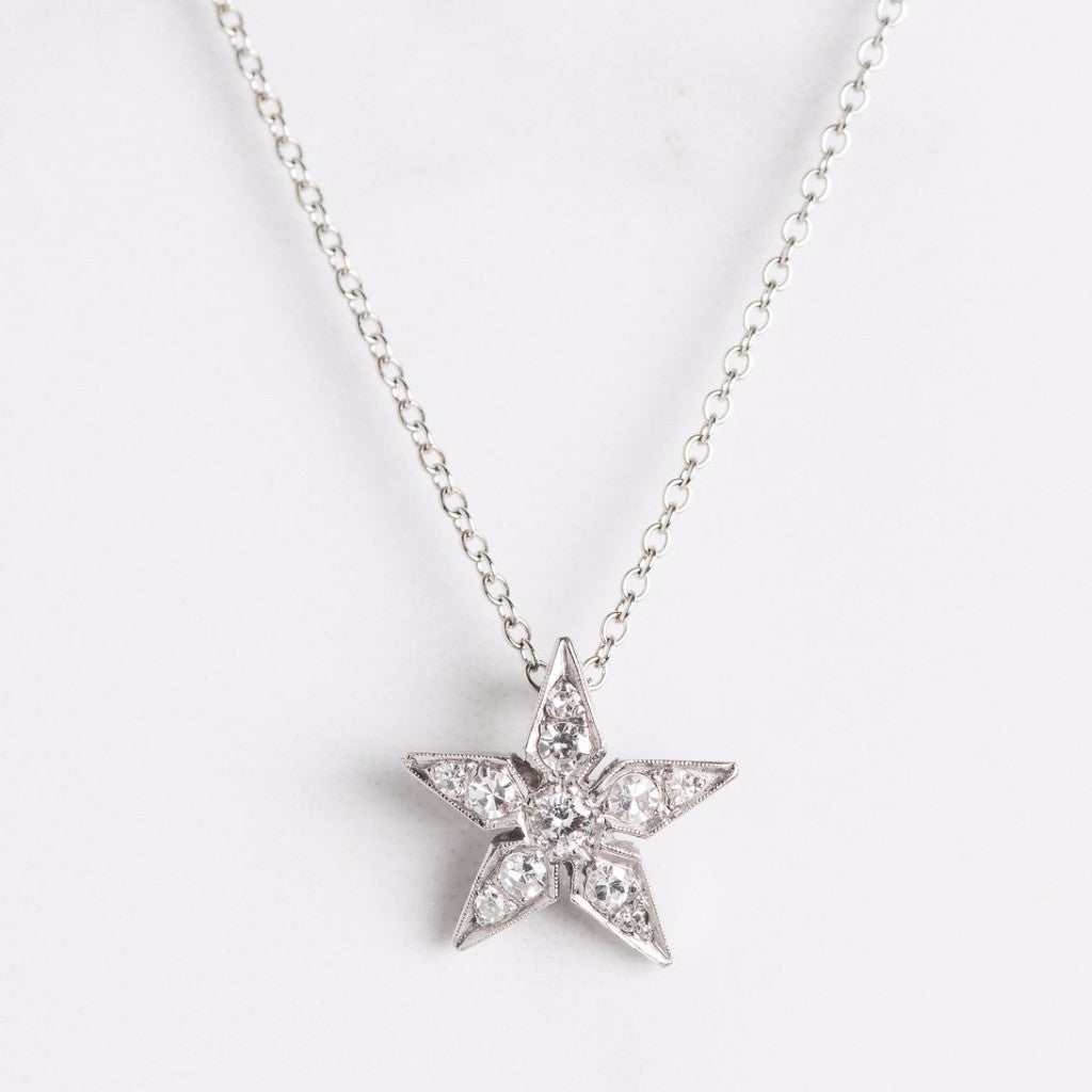 star silver necklace stars charm