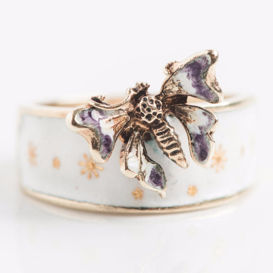 Yellow Gold Butterfly Ring