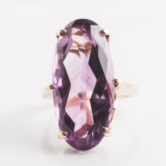 antique purple amethyst ring