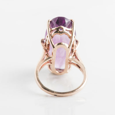 antique amethyst oval ring