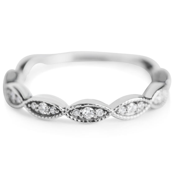 twisted pave white gold and diamond wedding band