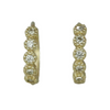 14k yellow gold bezel set diamond huggies with milgrain details under 500