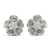 14k white gold diamond estate earrings under $1,000