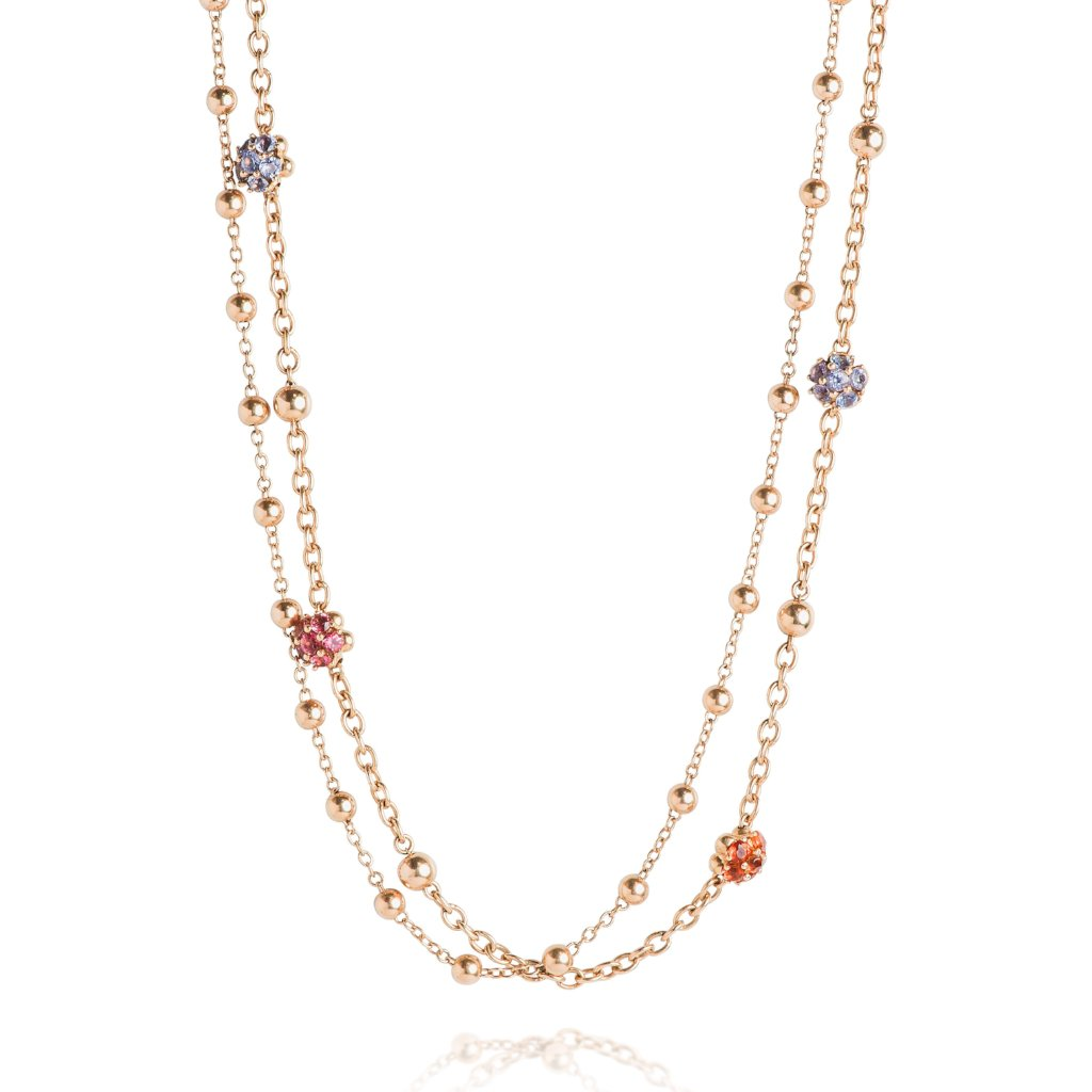 estate gemstone necklace yellow gold
