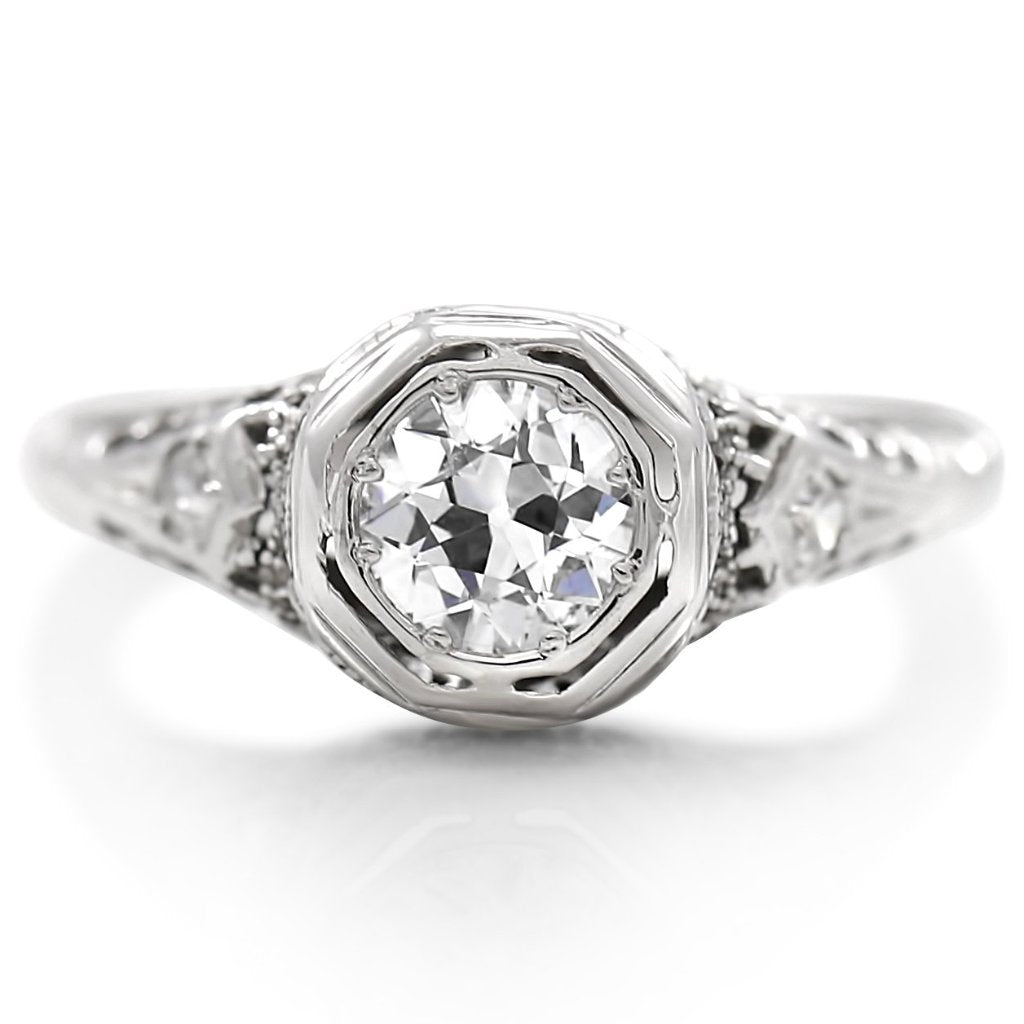 estate diamond engagement ring diamond and platinum