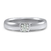 vintage tiffany and co engagement ring diamond center stone in a platinum setting