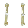 14k yellow gold everyday diamond huggie earings with nsew prong set diamonds under 1000