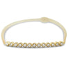 14k yellow gold diamond bracelet bezel set with milgrain details 7in long