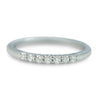 14k white gold classic diamond wedding band or stack ring