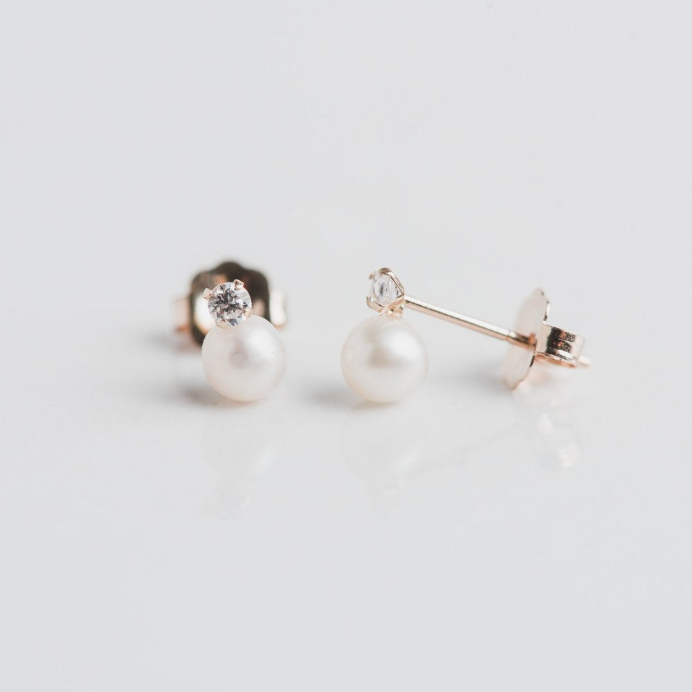 diamond and pearl wedding earrings