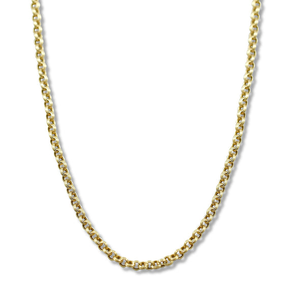 14k yellow gold italian estate chain 20in long