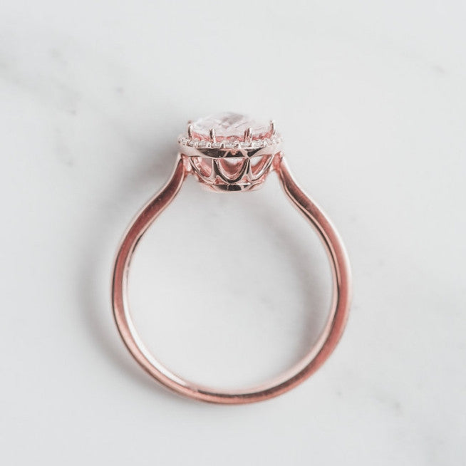 rose gold and pink gem statement ring
