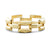 14k yellow gold modern antique link bracelet 7 in c. 1940's
