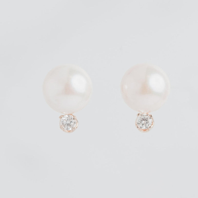 small diamond and pearl wedding earrings