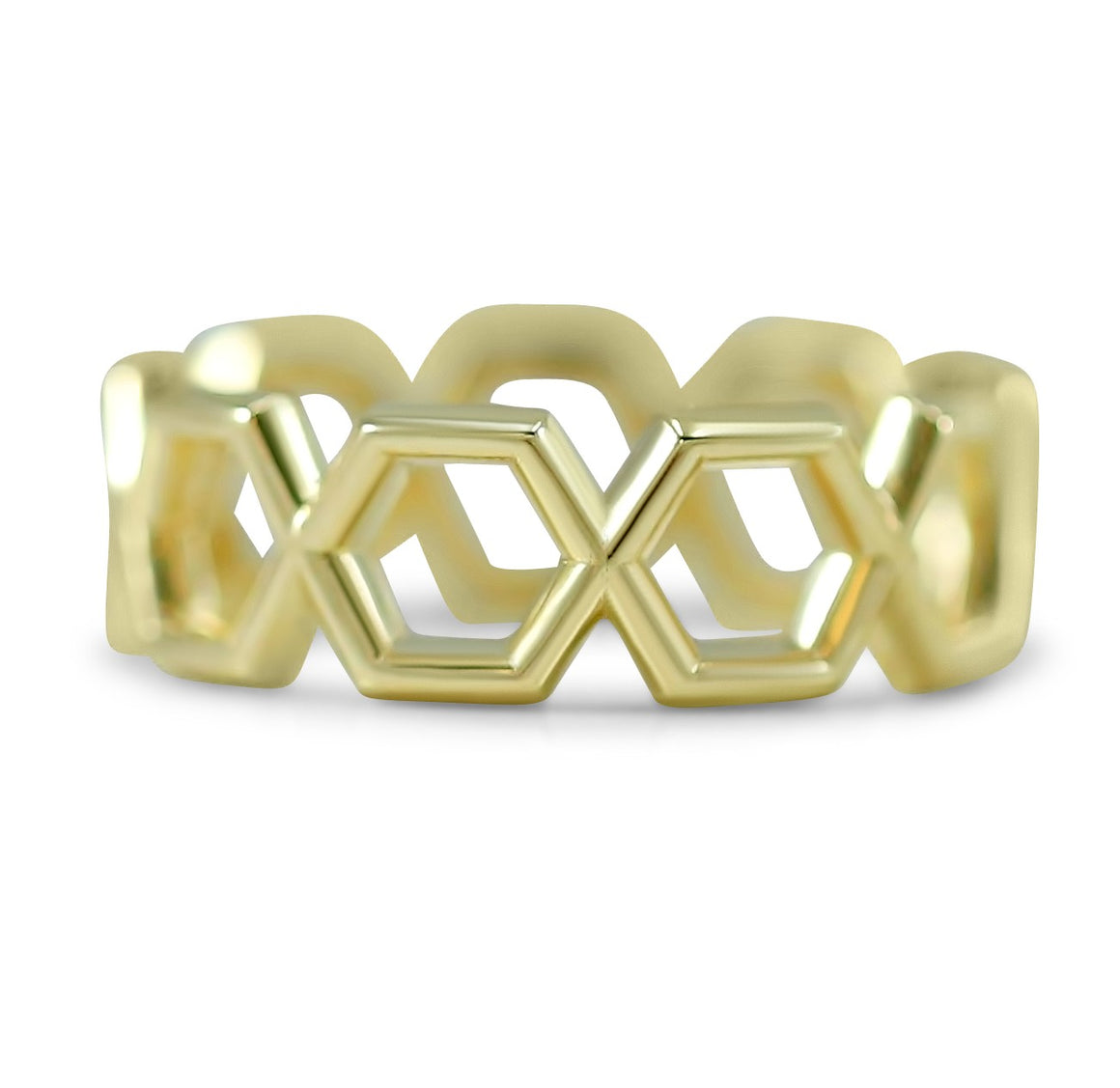14k yellow, rose or white gold geometric everyday wide right hand ring under $1,000