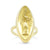 18k yellow gold estate navaette shaped signet ring with cleopatra on front