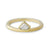14k yellow gold diamond shaped diamond ring
