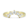 14k yellow gold diamond contour wedding band made with round diamonds