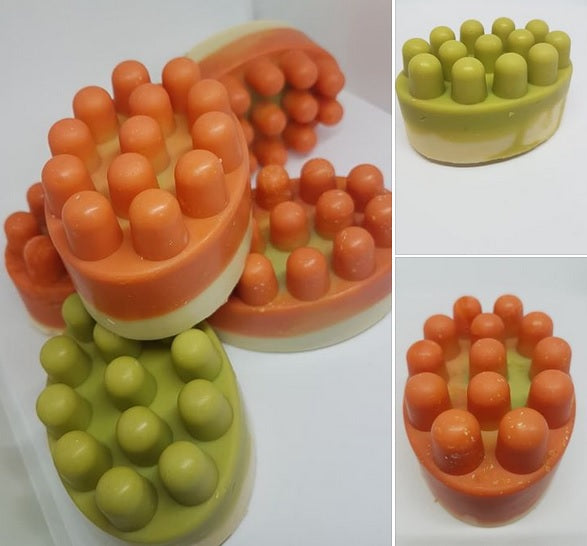 Massage Bar Soap Mould 4 Cell - EazyColours
