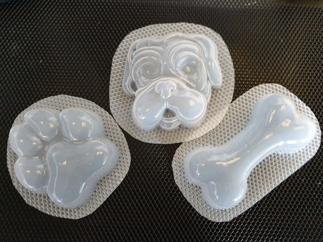 Dog Face, Bone and Paw Bath Bomb / Soap Mould Pack