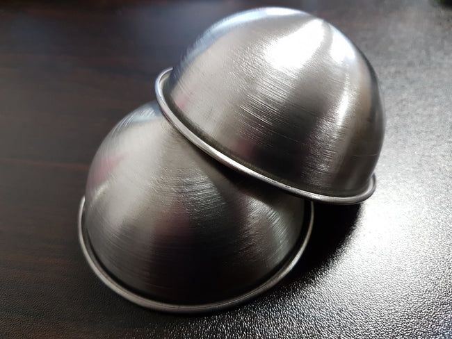 "Set of 75mm, 55mm and 25mm"" Stainless Steel Bath Bomb Moulds - EazyColours"