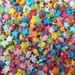 Multicoloured Mini Star Sprinkles