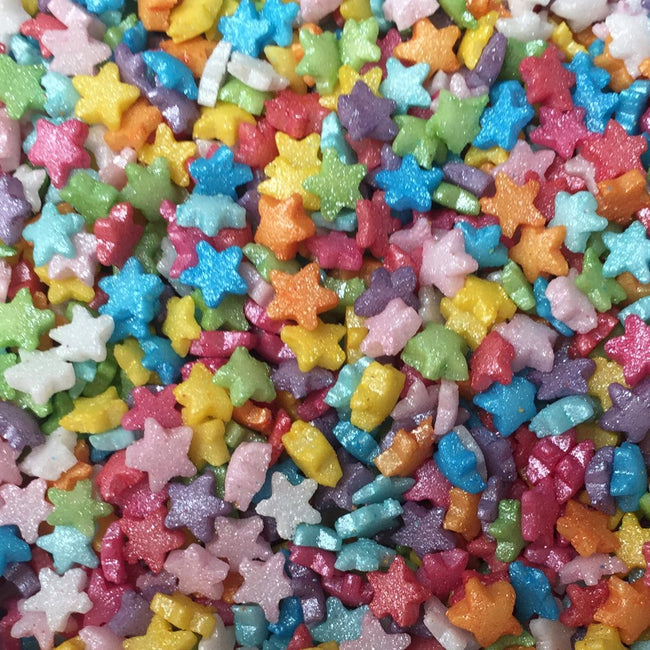 Multicoloured Mini Star Sprinkles - EazyColours