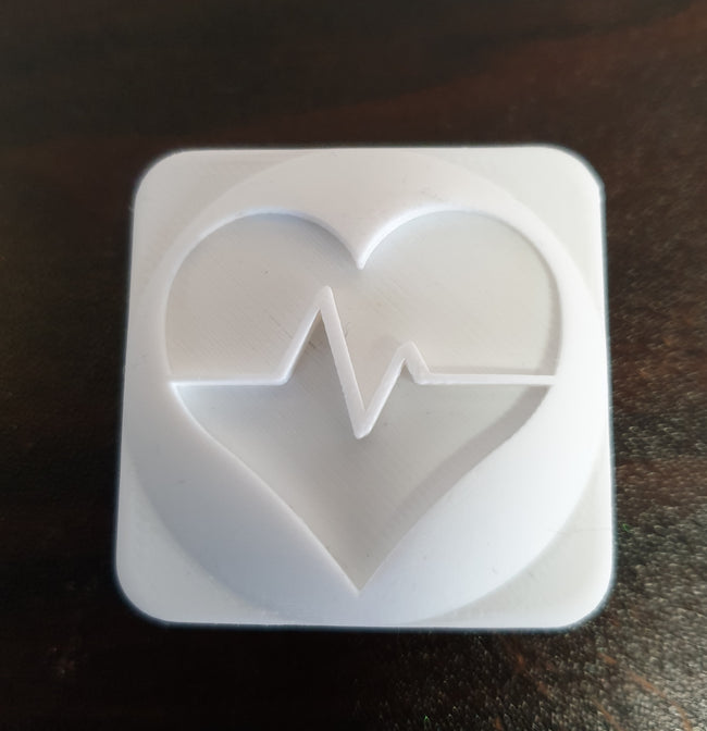 Heart Beat Soap Stamp