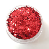 Red Chunky Biodegradable Glitter