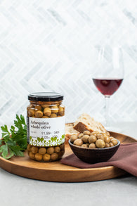 Deliterranea Arbequina Whole Olives (355g Net) - Spanish Pig