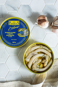 Los Peperetes Razor Shell Clams in Garlic and EVOO sauce (120g)