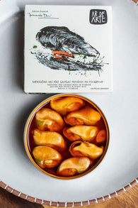 Ar De Arte Galician Fried Mussels in Pickled Sauce (110g) - Spanish Pig