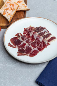 * ON SALE* Cinco Jotas (5J) Hand Sliced Iberico de Bellota Shoulder- 70g - Spanish Pig
