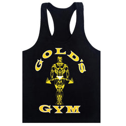 Golds Tank Top Men Sleeveless Shirt Bodybuilding Stringer Fitness Men's Cotton Singlets Muscle Clothes Workout Vest B-28