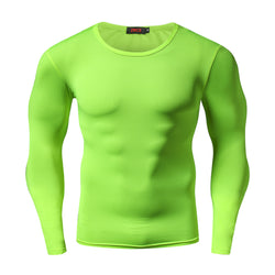 Men work out tights pro long sleeve t shirt fitness tops clothing bodybuilding quick dry mens tshirt camisetas masculina