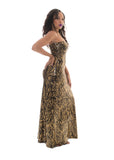 Disco Queen Strapless Evening Gown