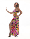 Flower Power Slit Maxi Dress