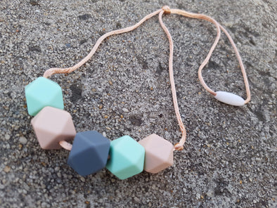 Rose Gold Silicone Mummy Necklace