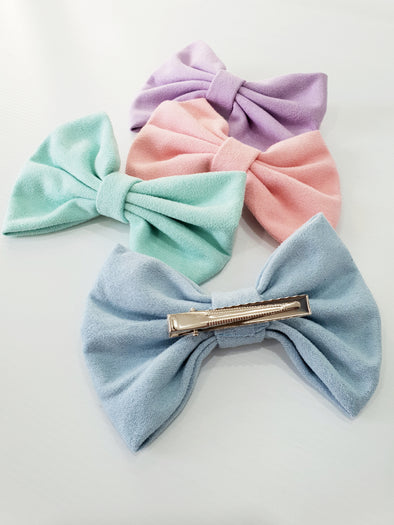 Large Pastal Bow Clips