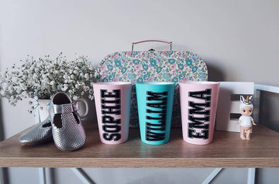 Personalised Childrens Tumbler | Pink