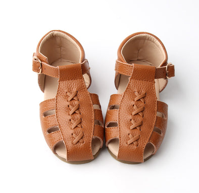 Wanderer | Tan Hard Sole Leather Sandal | *ONLY SIZE 11 & 12 LEFT*
