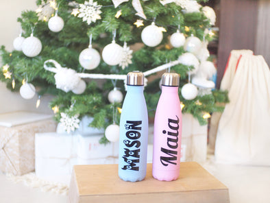Personalised Insulated Drink Bottle 500ml | Powder Blue