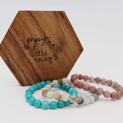 Natural Crystal Beaded Bracelets | Crystal Healing Stones