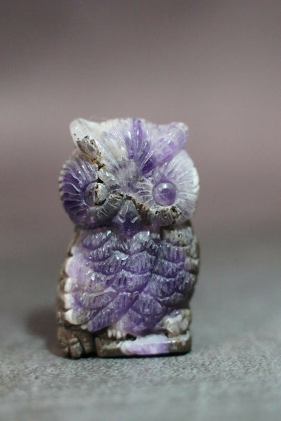 Little Owl | Amethyst | Handcarved Natural Crystal