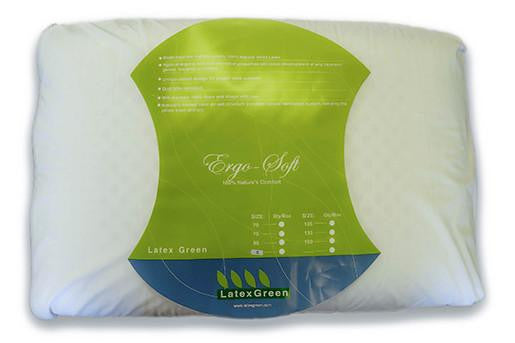 Ergo Soft Latex Green Pillow