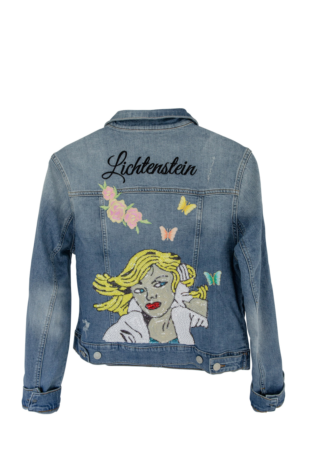 Montana Goldberg Jean Jacket With Lichtenstein Motif