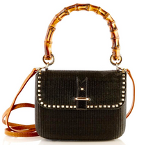 Top Handle Straw Handbag